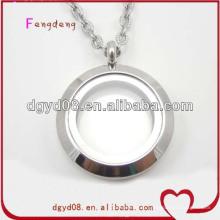 25мм винт круглый нержавеющей стали с плавающей медальон ожерелье