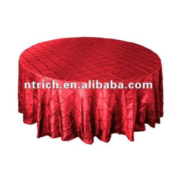 PIntuck tafetá de pano de mesa-redonda do casamento