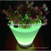 светодиоды загораются цветок плантатор горшки изменение цвета светодиодные цветочный горшок освещения