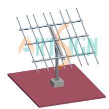 Solar PV Ground Racking System Pole Ground Mount System
