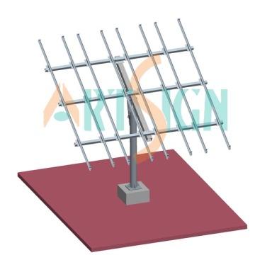 Solaire PV mettre, soutirage système pôle terre système de montage