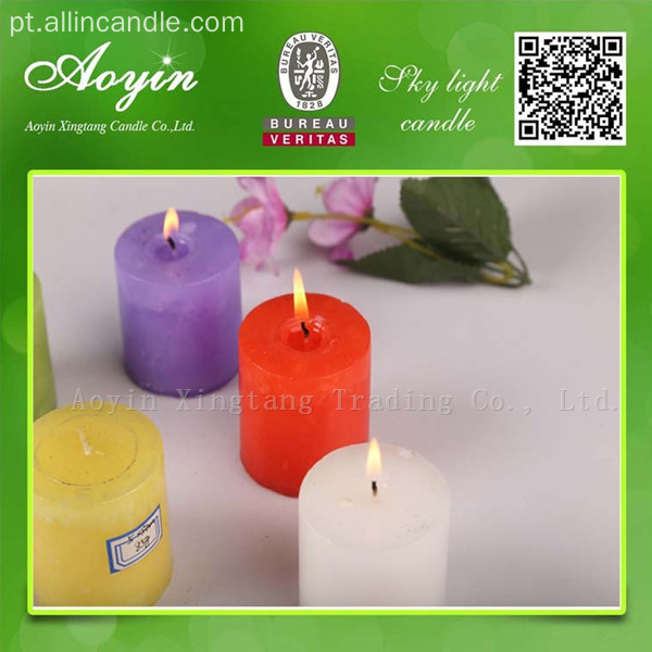 7,5 * 7,5 Multi-colored Tearless Pillar Vela com Fragrância