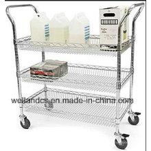 Chariot d'équipement métallique mobile