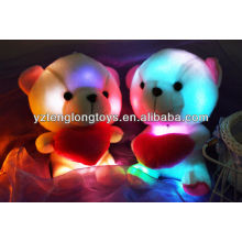 China fábrica LED juguetes de peluche de peluche juguetes rellenos de luz LED de juguete