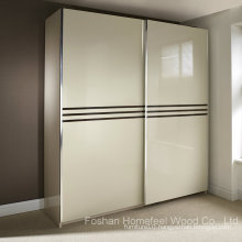 Wonderful Ivory Colour High Gloss Sliding Wardrobe (HF-EY0829)