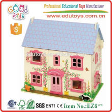 Factory Direct Sale Girls Dream Villas Lovely Wooden Doll House Toys