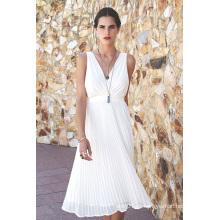 2016 moda chiffon plissado vestido de noite mulheres moda roupas