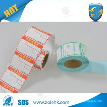 High quality custom size waterproof pos direct thermal labels with serial number