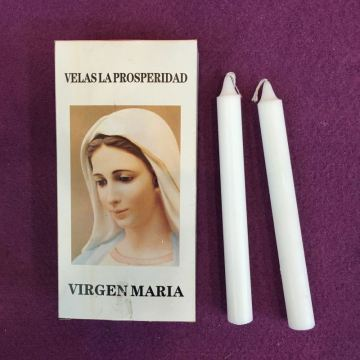 Burning White Pillar Candle Church Oración Vela
