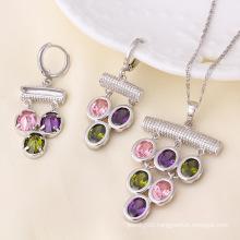 Xuping Newest Rhodium Plated Luxury Jewelry Set