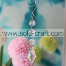 Kinds of 15CM Clear Plastic Acrylic Full Cut Kite Lamp Beaded Garland Prism