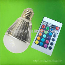 Cambio de color con mando a distancia rgb led bulb