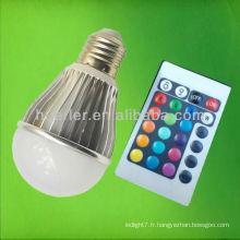 Bulle à LED couleur 3w rgb de couleur différente