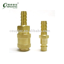 Brass nickel-plated Pipe Coupler
