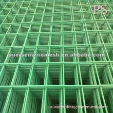 Panel de malla de alambre soldado de PVC para la valla de fábrica