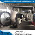 Scrap tire refining to fuel oil machine