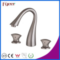 Fyeer Thress Holes Brushed Two Handle Widespread Basin Faucet