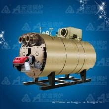 Caldera de agua caliente de rodamientos de condensación de gas horizontal (WNS0.7)