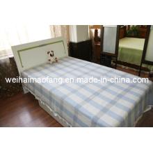 Tecido de lã pura lã virgem cobertor / (NMQ-WB004)