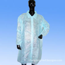 Disposable Nonwoven Long Coat, Colorful, Available in Various Sizes