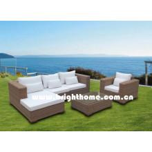 Sofá medio redondo del sofá de la rota del PE Muebles al aire libre Bp-M12