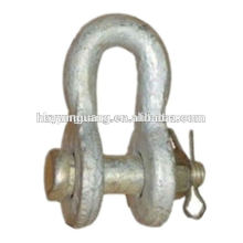 Steel Shackle power fitting overhead lines Accessories power pole line hardware fitting electrical transmission line fitting