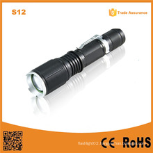 S12 Outdoor Hand Light 18650 Battery LED Rechargeable Flashlight