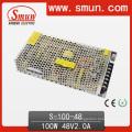 Fonte de alimentação S-100-48 do interruptor da tomada de fábrica de 100W 48V 2A