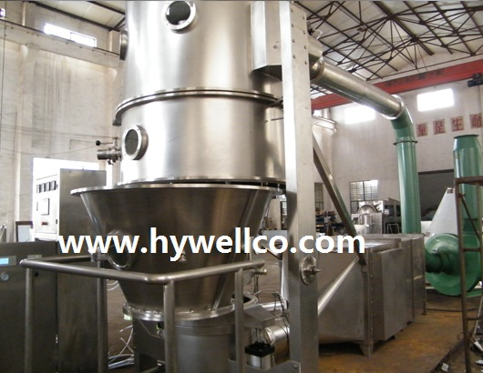Veterinar Dadah Fluidized Dry Granulator