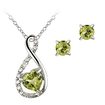 Ensemble de bijoux et anneaux en argent sterling 925 avec CZ