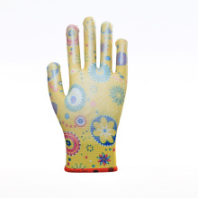 Anti-slip Short PU Multicolor Working Gloves