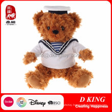 Custom Soft Stuffed Animal Toys Uniform Teddy Bear