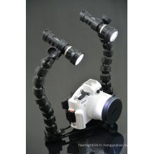 Eclairage de la torche de plongée sous-marine Torche vidéo LED de plongée