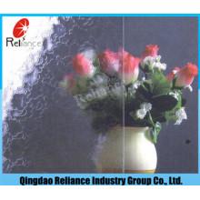 3.5mm Moran / Oceanic / Mai Blume / Karte Figured / Gemustertes Glas mit Bernstein / Grau / Bronze Farbe