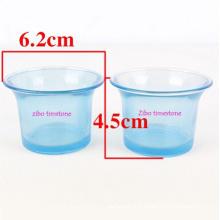 Vente en gros de bougeoirs en forme de bleu Ocean Style Glass