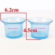 Venta al por mayor Ocean Style Blue Color Candle Holder Glass