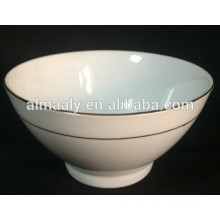 tazón de cerámica de tamaño pequeño con borde de oro