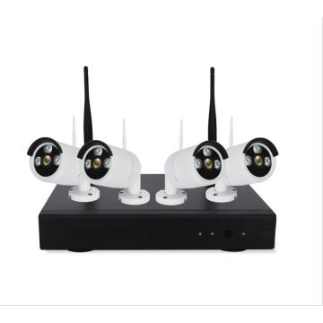 Indoor Outdoor 1080P 4CH WLAN-Kamera-Kit