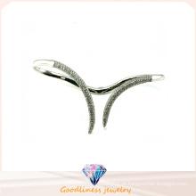 Simples estilo fino 925 pulseira de prata pulseira pulseira de moda para as mulheres (g41257)