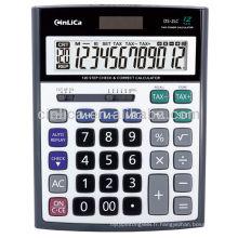 Calculateur d'impôt de grande taille de 12 chiffres, certificat CE Calculatrice