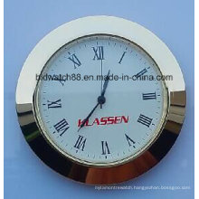 Custom 65mm Small Clock Inserts Gold Tone Silver Round