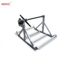 HEAVY DUTY Cable Reel Stands con frenos tensores
