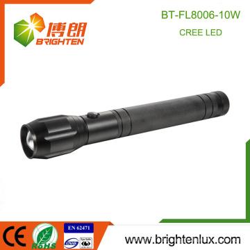 Fabrik Versorgung 3D-Zelle Heavy Duty Multifunktions-einstellbare Fokus Aluminium Cree xml t6 10w High Power LED Taschenlampe
