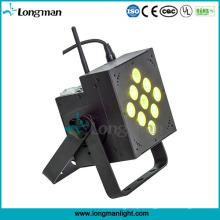 DMX sem fio 9X10W RGBW LED alimentado por bateria PAR pode