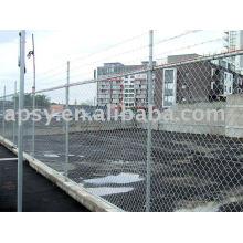 galvanisé / clôture de lien de chaîne de PVC