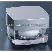 Contenedores cosméticos cuadrados de acrílico PMMA