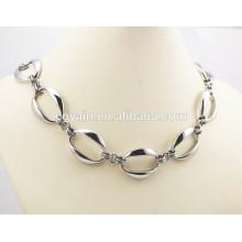 Нержавеющая сталь Большие серебряные длинные звенья цепи ожерелья для женщин