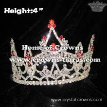 4inch Whoesale Red Diamond Pageant Queen Crowns