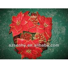 Artificial christmas silk flower