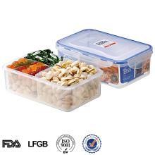 Recipiente de alimento plástico de 3 compartimentos 1150ML